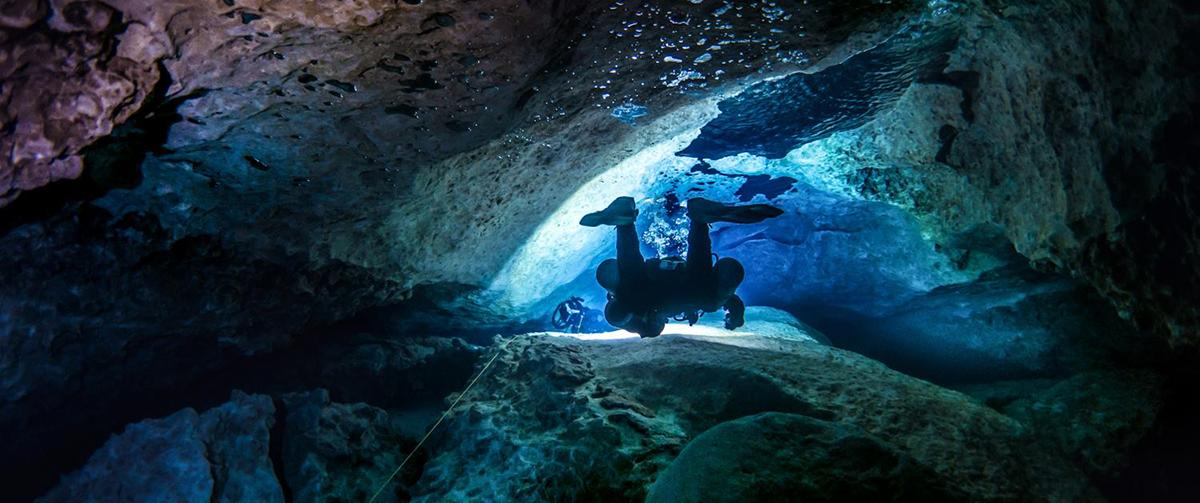Cave diver training Mexico ProTec Dive Centers